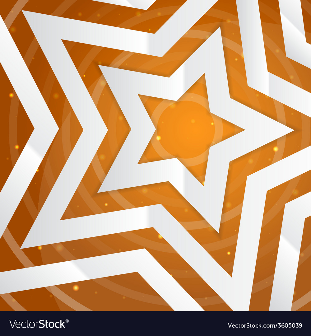 Paper star on the yellow power background f vector | Price: 1 Credit (USD $1)