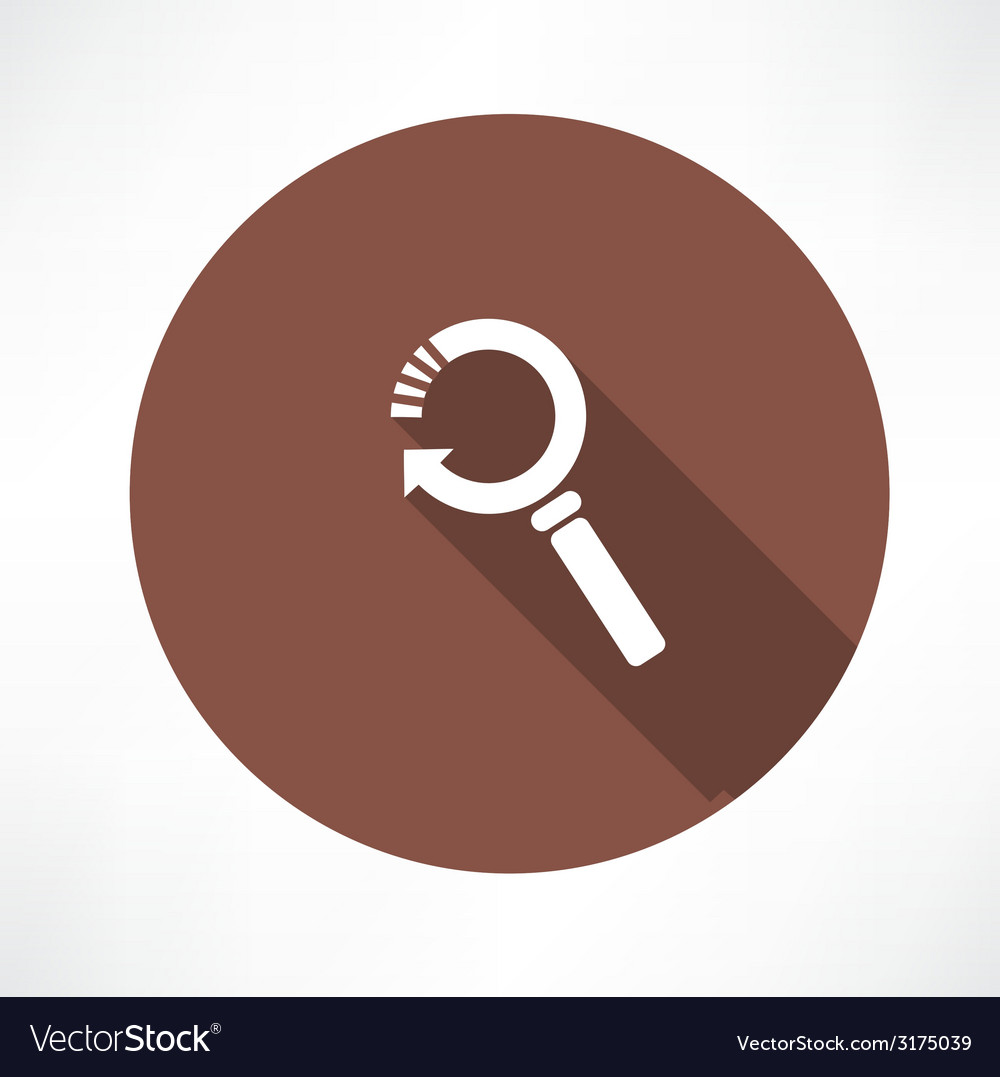 Refresh magnifier icon vector | Price: 1 Credit (USD $1)