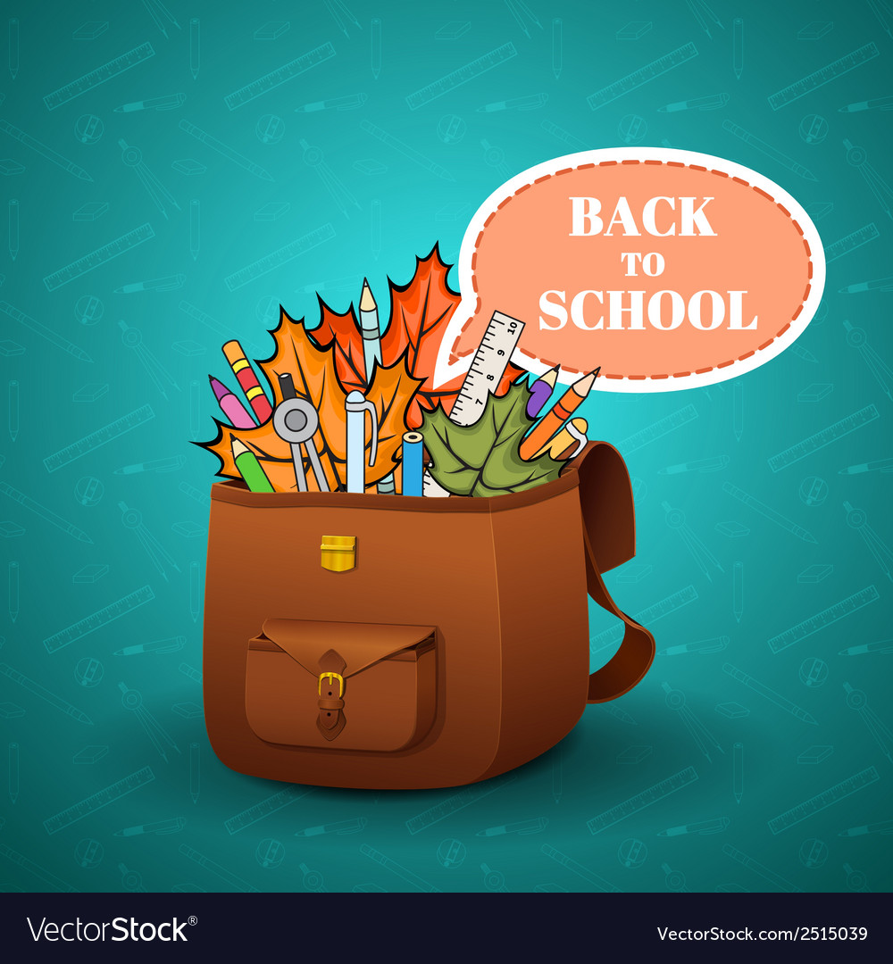 School briefcase vector | Price: 1 Credit (USD $1)