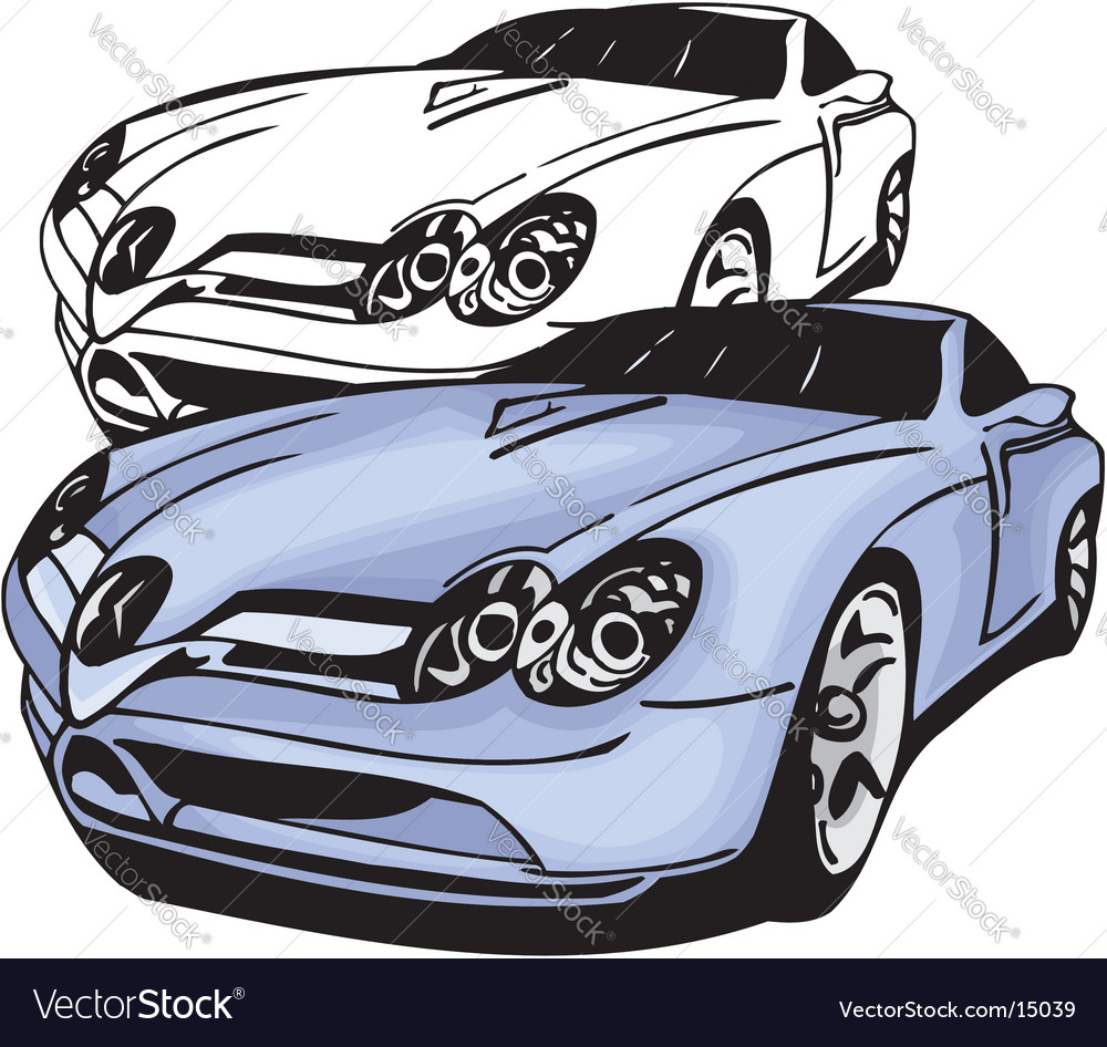 Sports car design vector | Price: 1 Credit (USD $1)