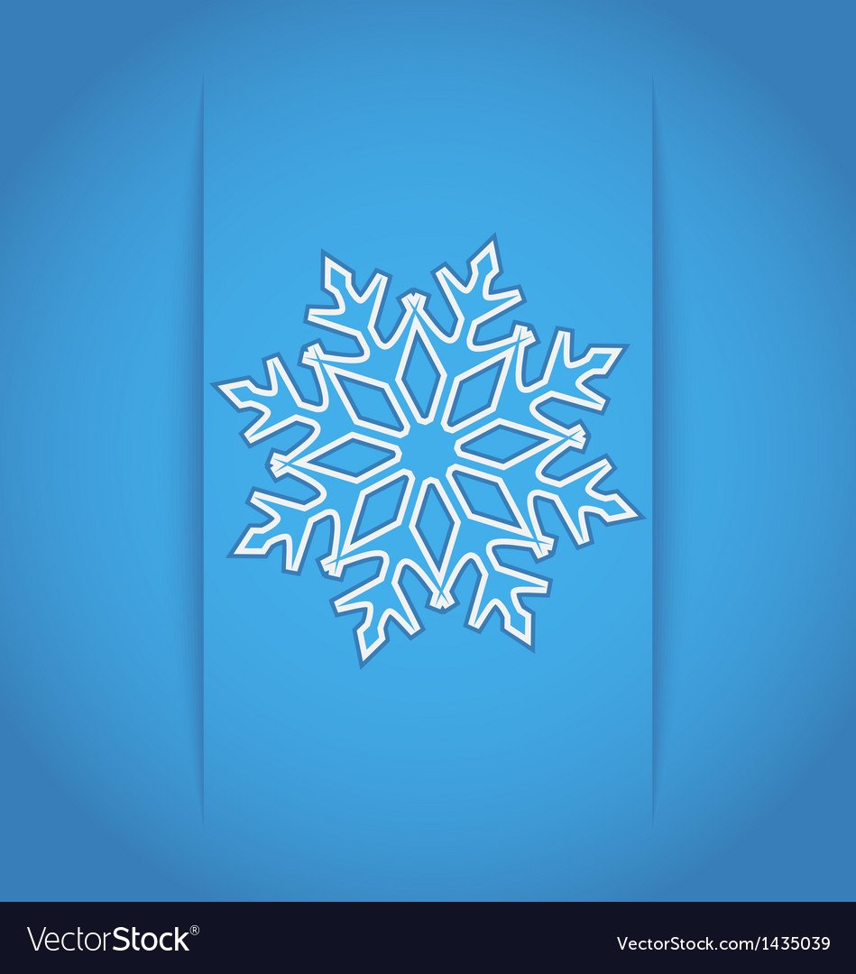 Template frame design with christmas snowflake vector | Price: 1 Credit (USD $1)