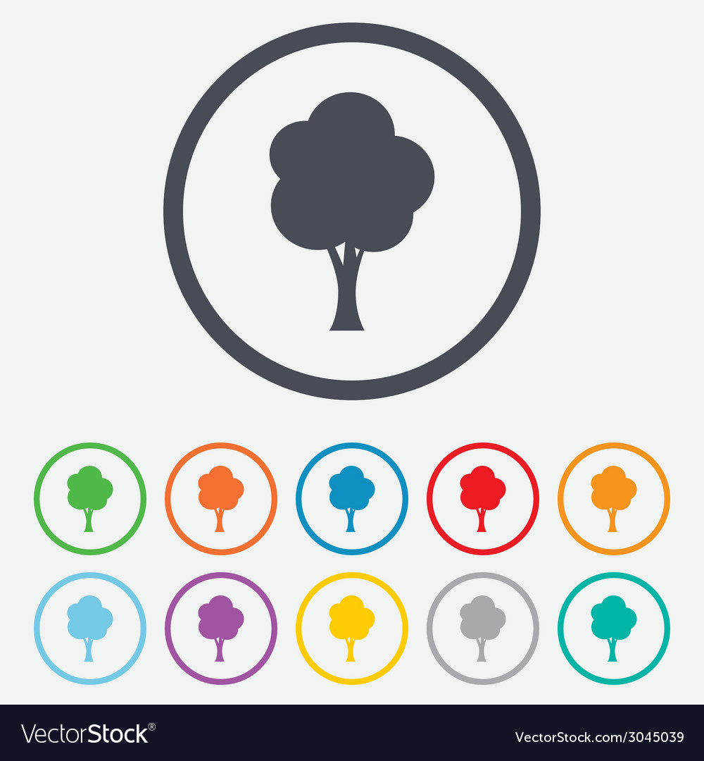 Tree sign icon forest symbol vector | Price: 1 Credit (USD $1)