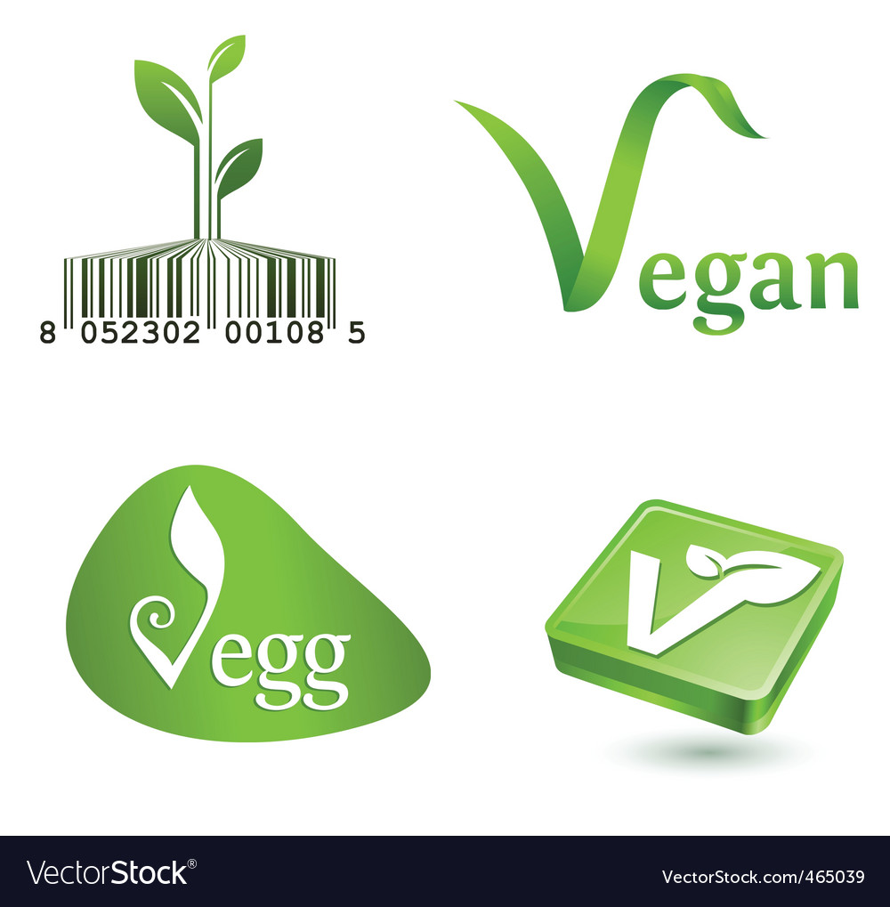 Vegetarian symbols vector | Price: 1 Credit (USD $1)
