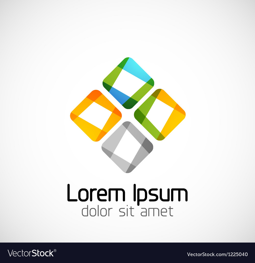 Abstract geometric business symbol vector | Price: 1 Credit (USD $1)