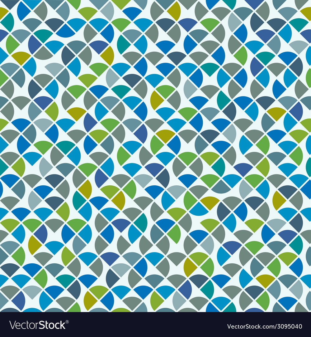Abstract mosaic retro seamless pattern vector | Price: 1 Credit (USD $1)