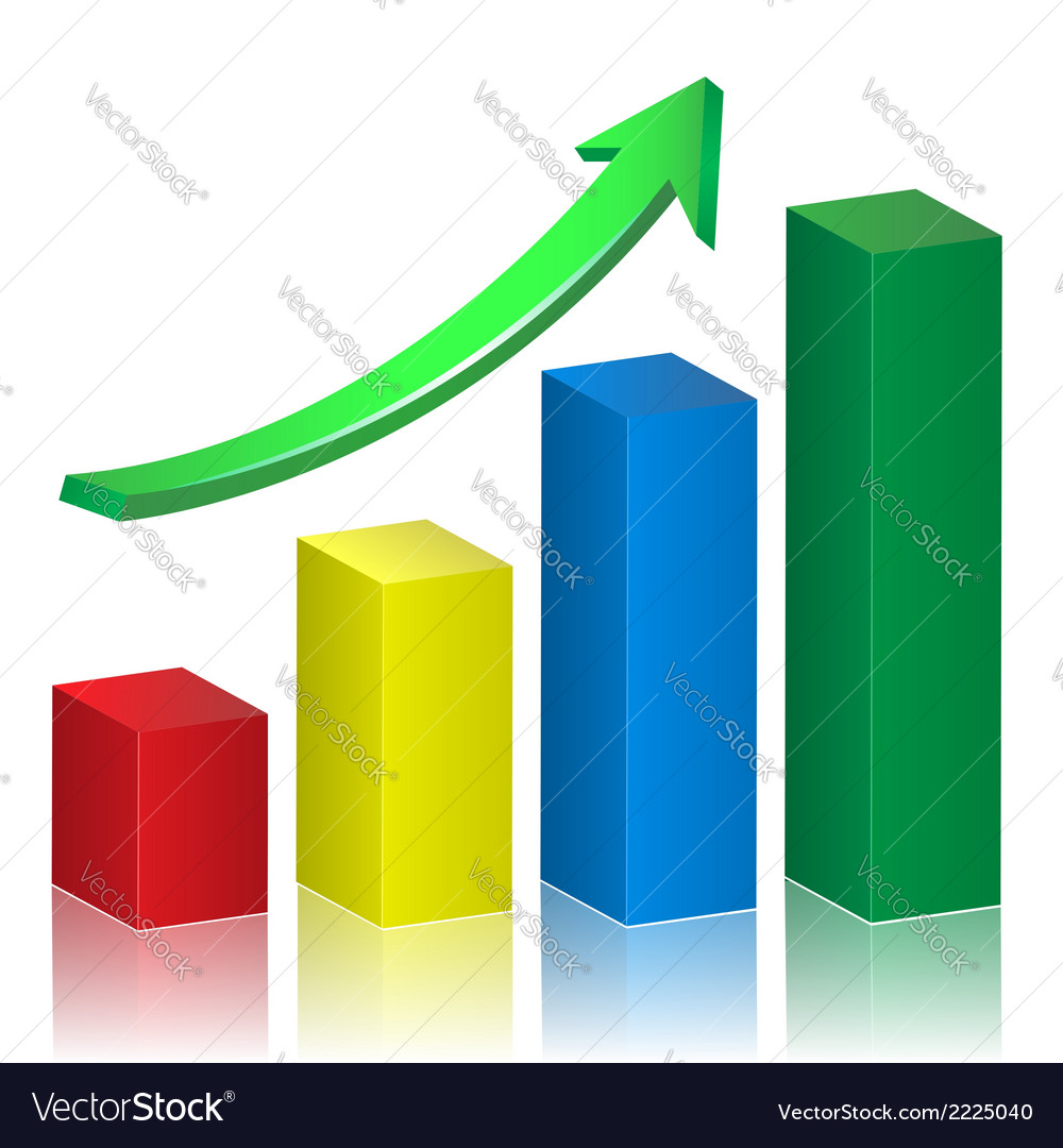 Business growth graph vector | Price: 1 Credit (USD $1)