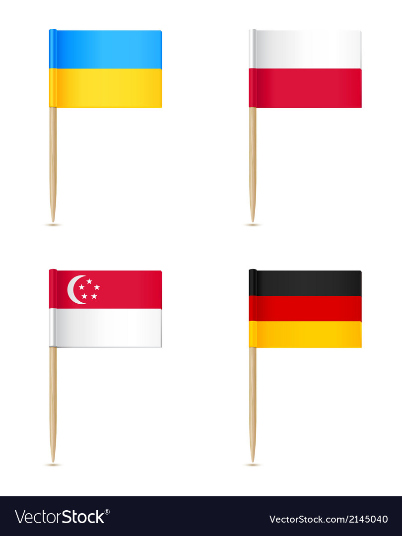 Flags toothpick icon vector | Price: 1 Credit (USD $1)