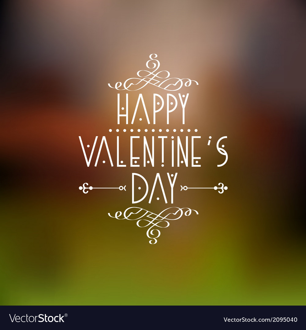 Happy valentines day card design with calligraphic vector | Price: 1 Credit (USD $1)