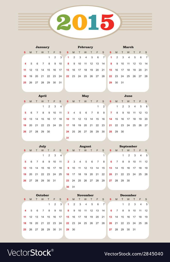 Kalender vector | Price: 1 Credit (USD $1)