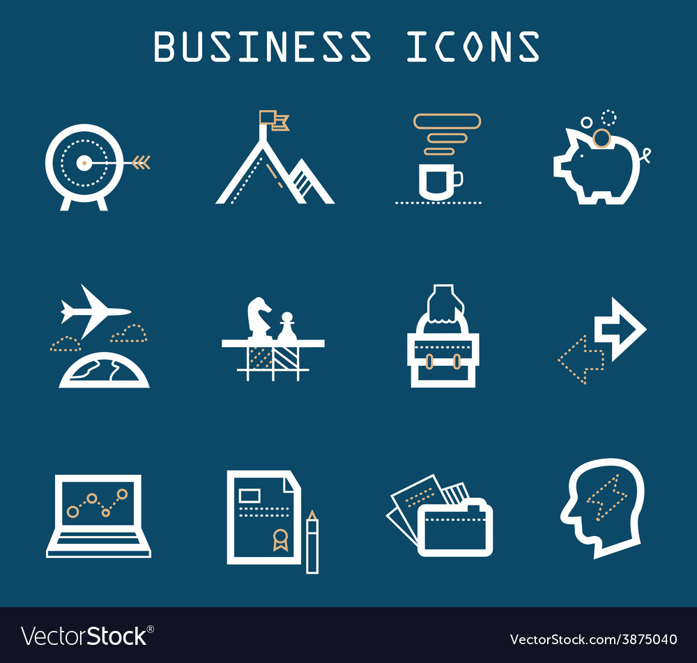 Productive at work icons - blue series vector | Price: 1 Credit (USD $1)