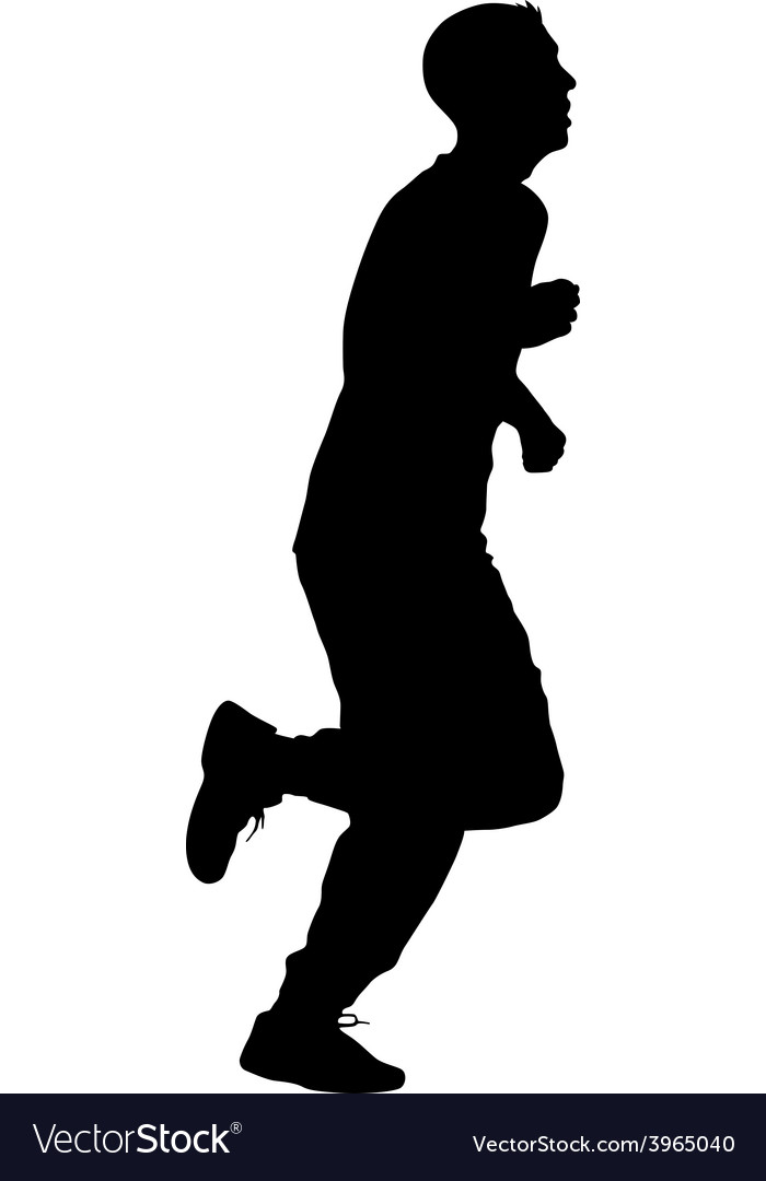 Running black silhouettes vector   Price: 1 Credit (USD $1)