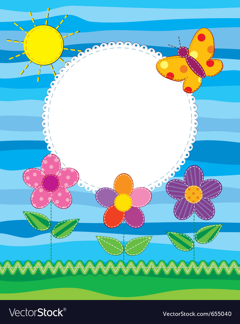 Scrapbook style photo frame or card vector | Price: 1 Credit (USD $1)