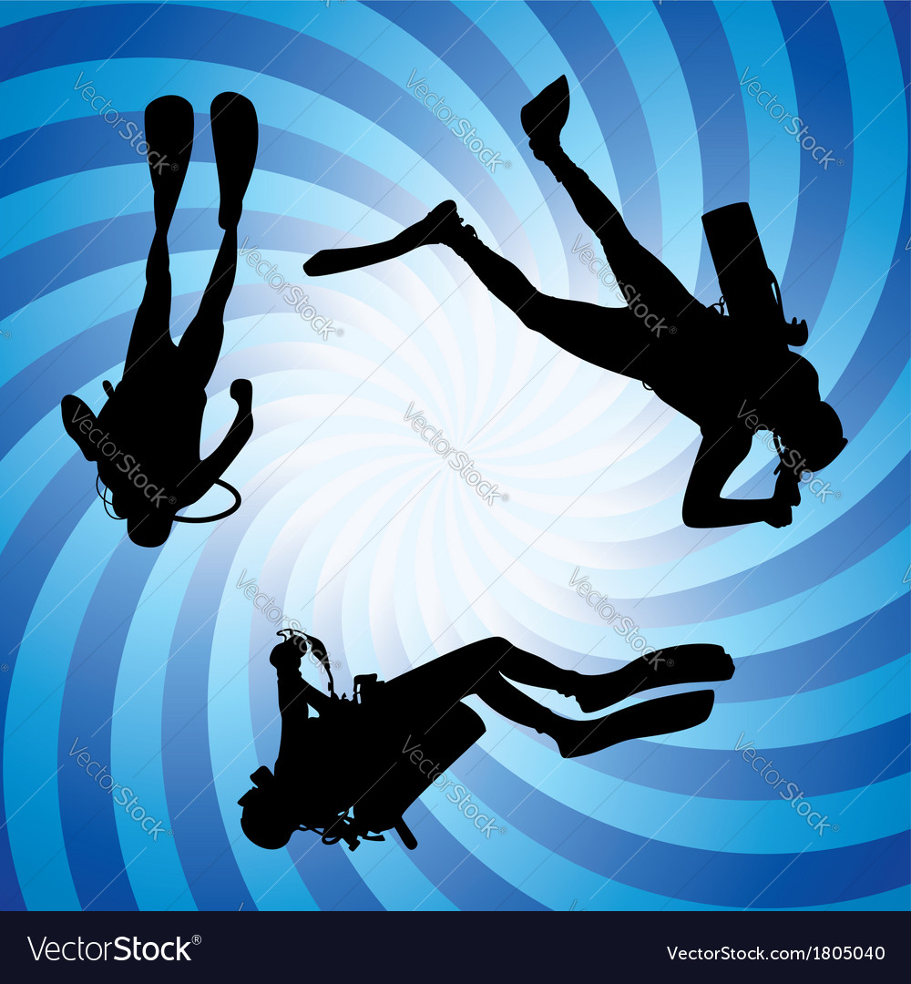 Scuba divers underwater vector | Price: 1 Credit (USD $1)