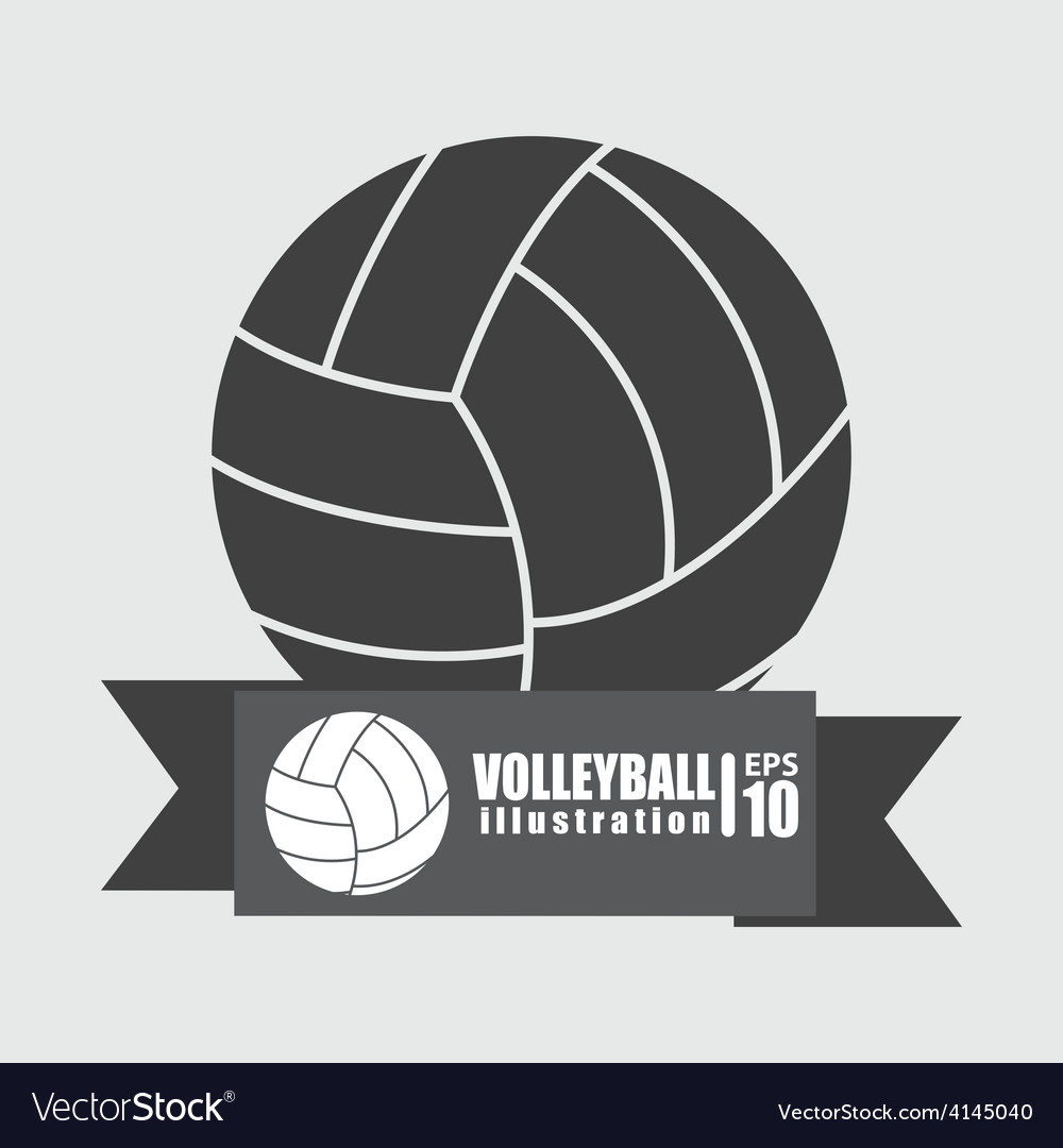 Volleyball sport vector | Price: 1 Credit (USD $1)