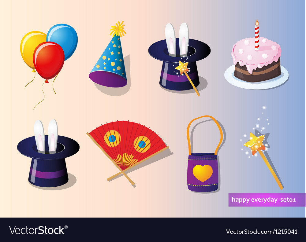 Birthday and party set vector   Price: 1 Credit (USD $1)