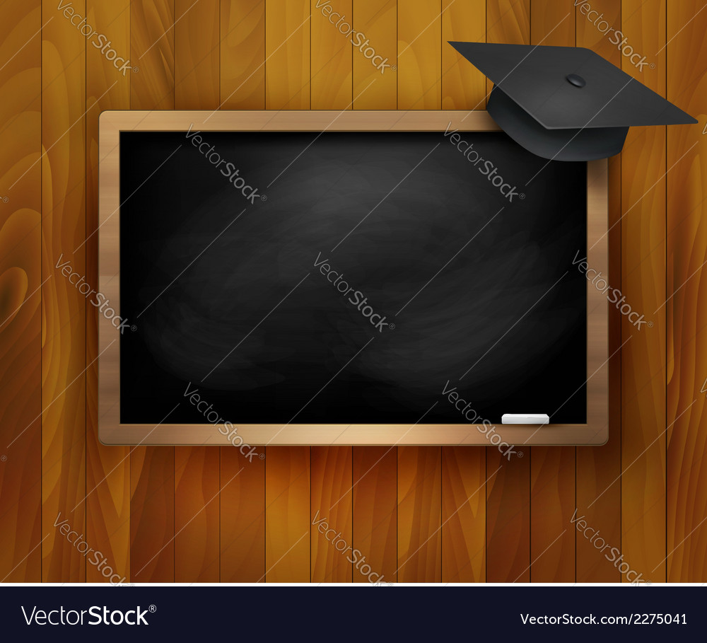 Blackboard with graduation cap vector | Price: 1 Credit (USD $1)
