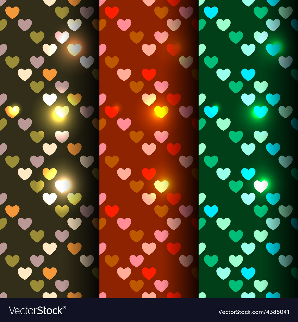 Bright set of 3 seamless vector | Price: 1 Credit (USD $1)