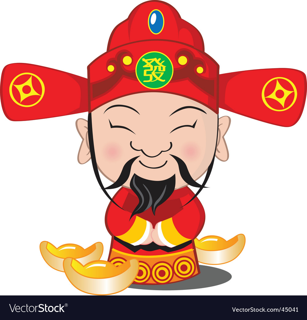 Choy san god of wealth vector | Price: 1 Credit (USD $1)