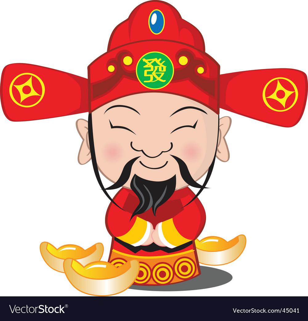 Choy san god of wealth vector | Price: 1 Credit (USD $1)