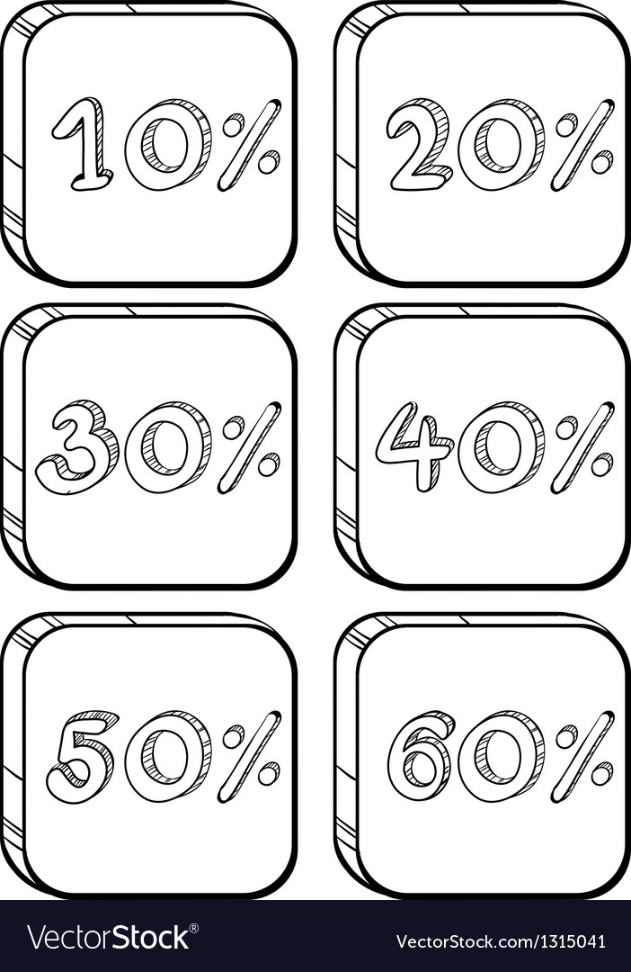 Doodle designs of price discounts vector | Price: 1 Credit (USD $1)