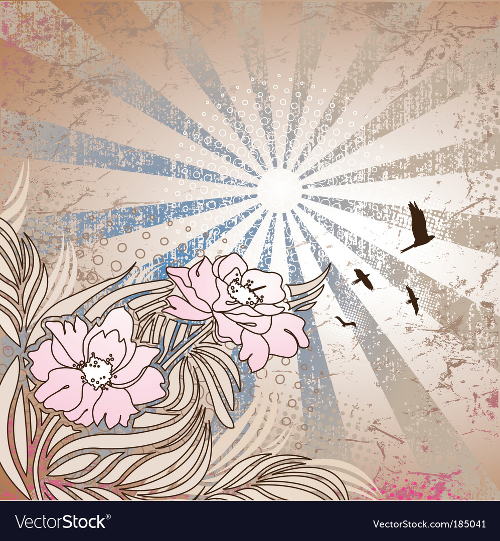 Floral rays vector | Price: 1 Credit (USD $1)