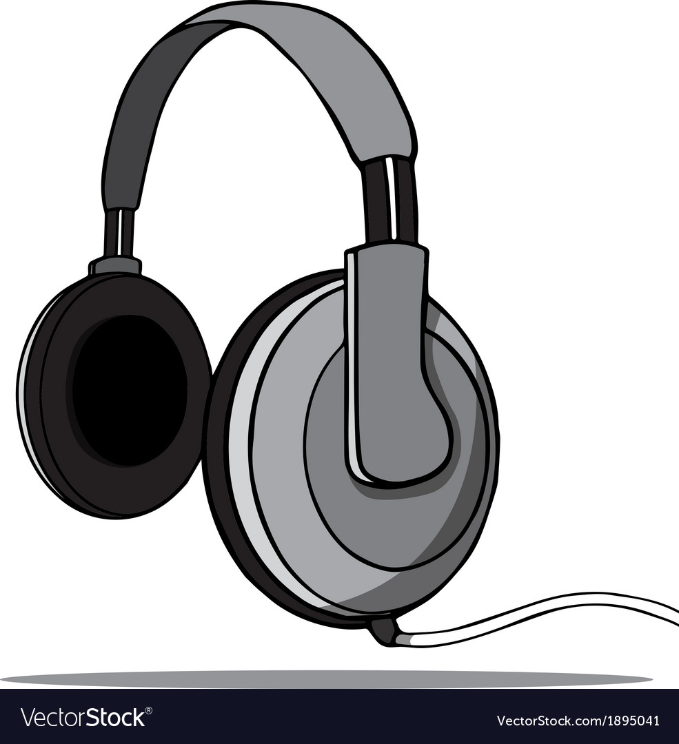 Headphones on a white background vector | Price: 1 Credit (USD $1)