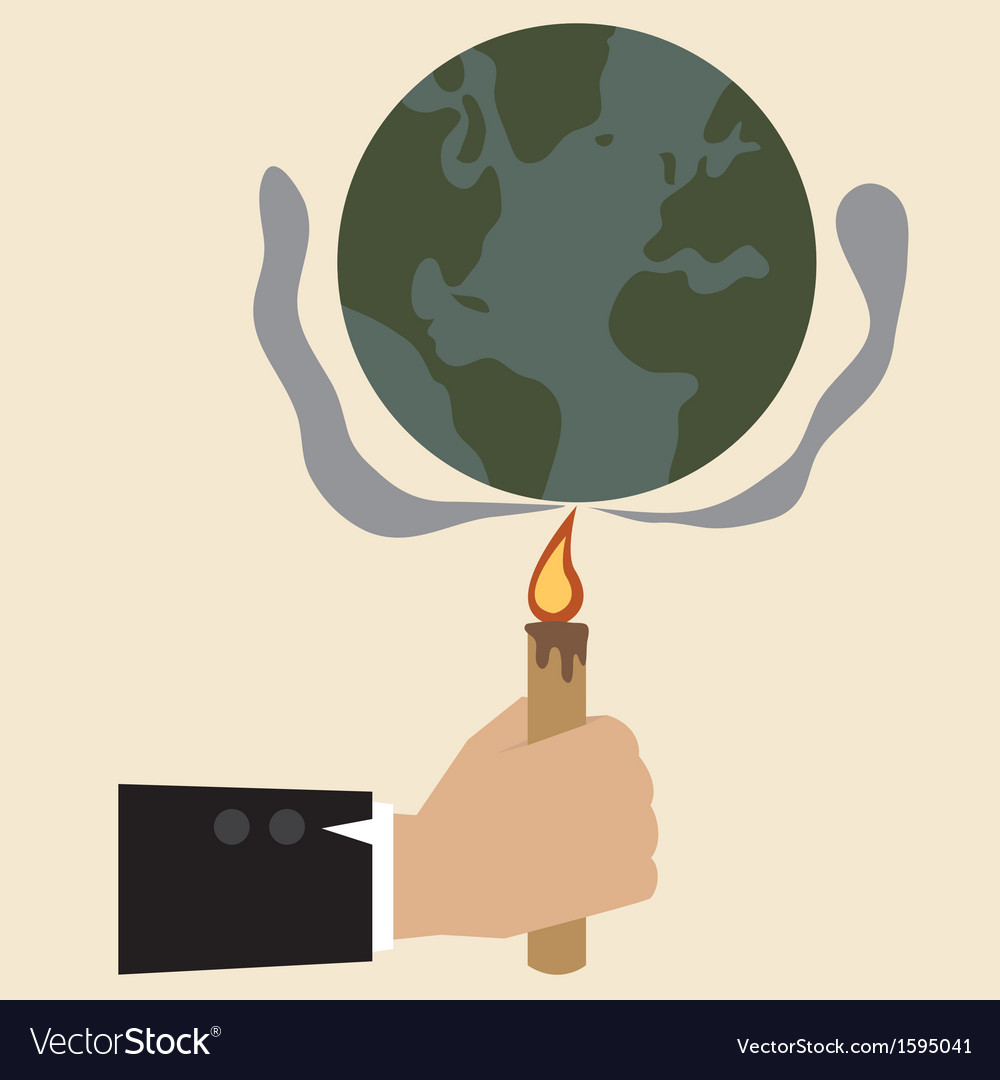 Human are making global warming vector   Price: 1 Credit (USD $1)