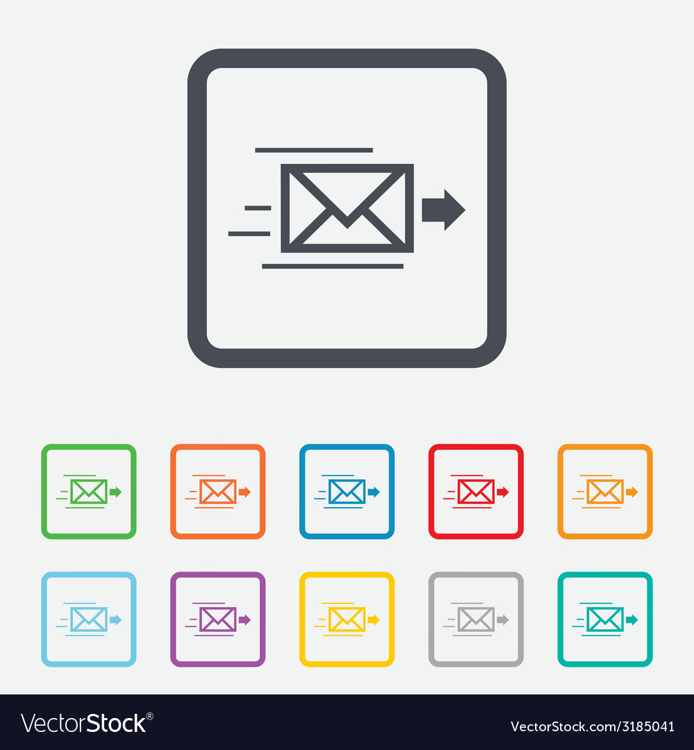 Mail delivery icon envelope symbol message vector | Price: 1 Credit (USD $1)