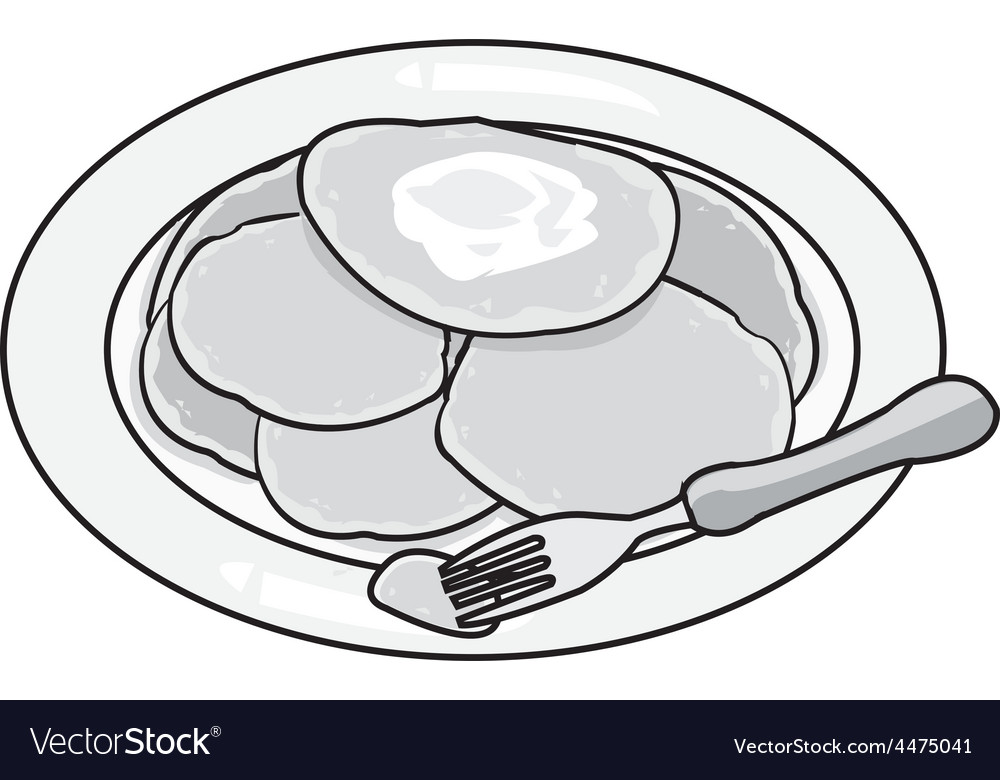 Pancake vector | Price: 1 Credit (USD $1)