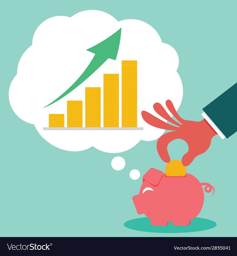 Saving for money grow vector | Price: 1 Credit (USD $1)