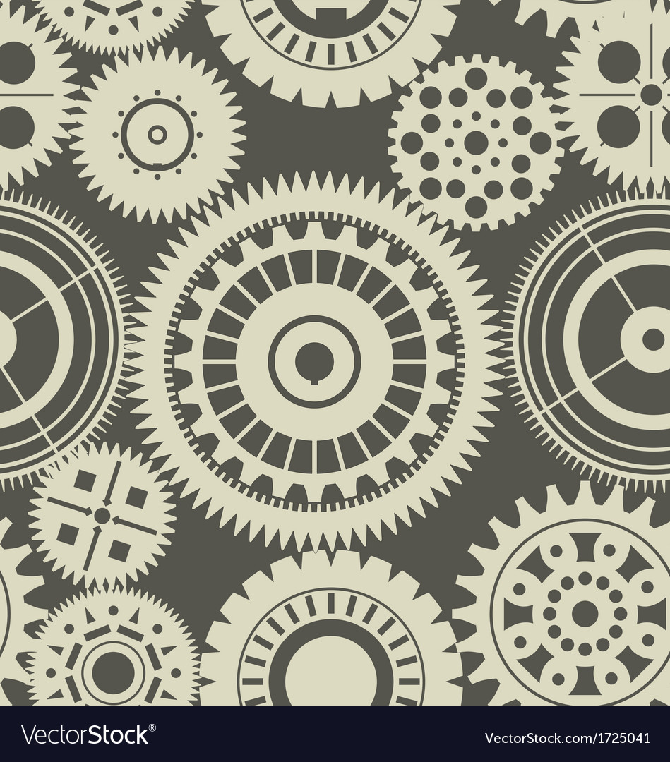 Seamless gear background retro color vector | Price: 1 Credit (USD $1)