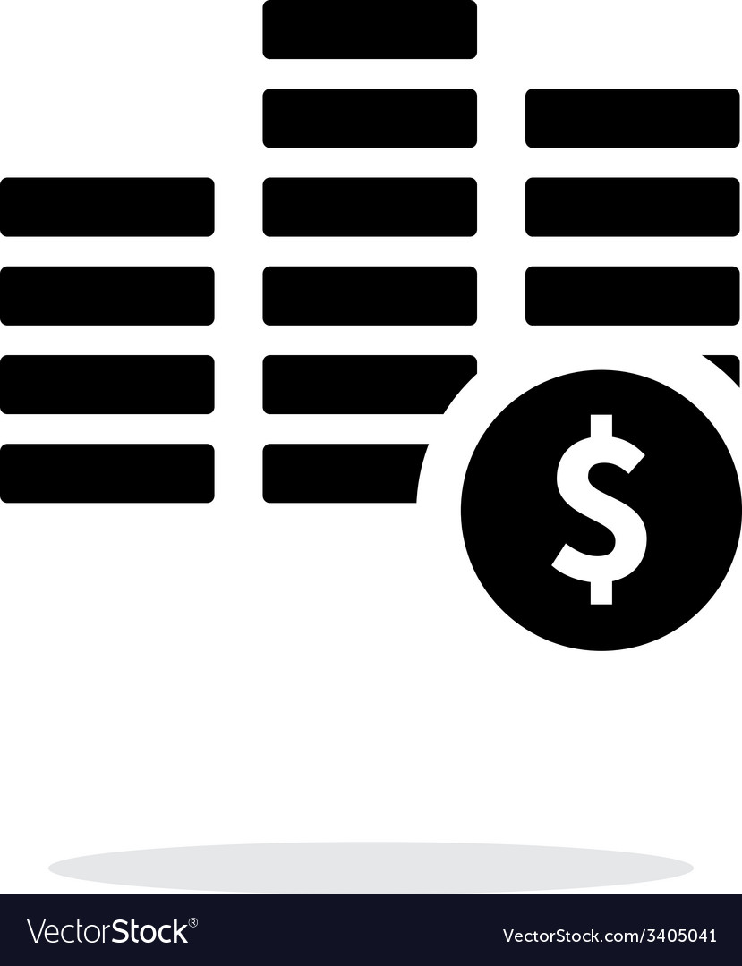 Stack with coins simple icon on white background vector | Price: 1 Credit (USD $1)