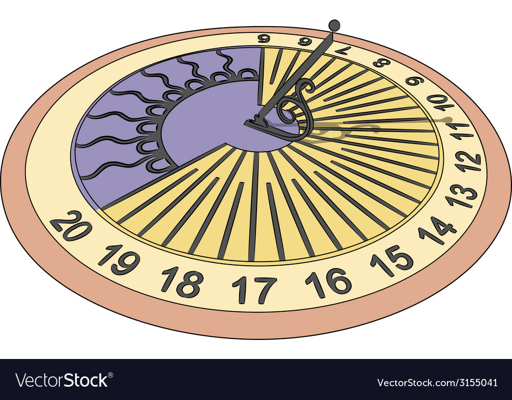 Sundial vector | Price: 1 Credit (USD $1)
