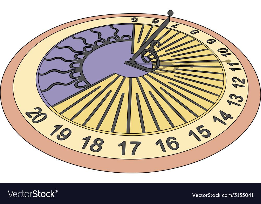 Sundial vector | Price: 1 Credit (USD $1)