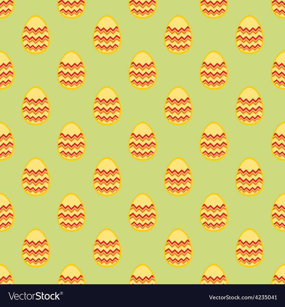 Tile pattern with easter eggs on green background vector | Price: 1 Credit (USD $1)
