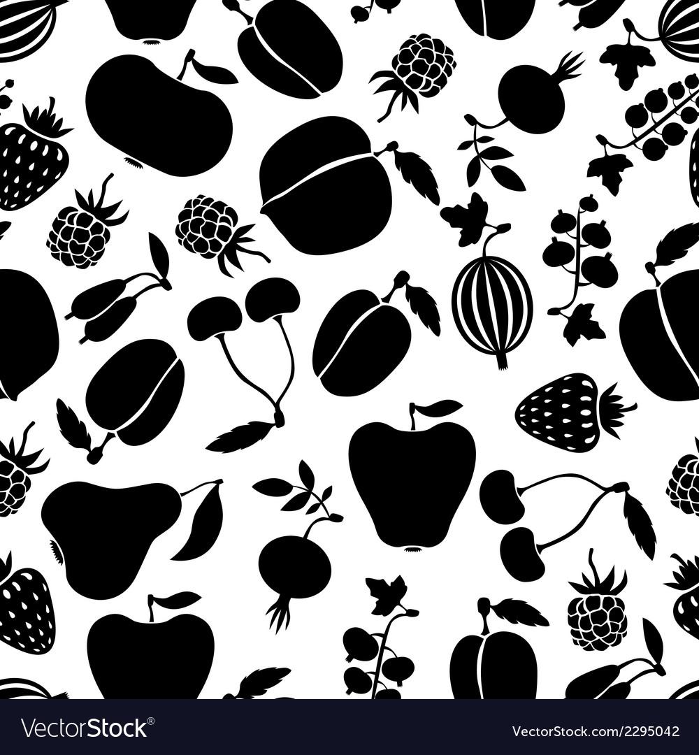 Berries pattern black vector   Price: 1 Credit (USD $1)