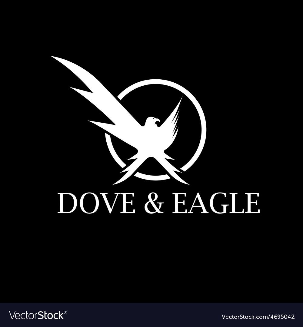 Dove and eagle negative space concept design vector | Price: 1 Credit (USD $1)