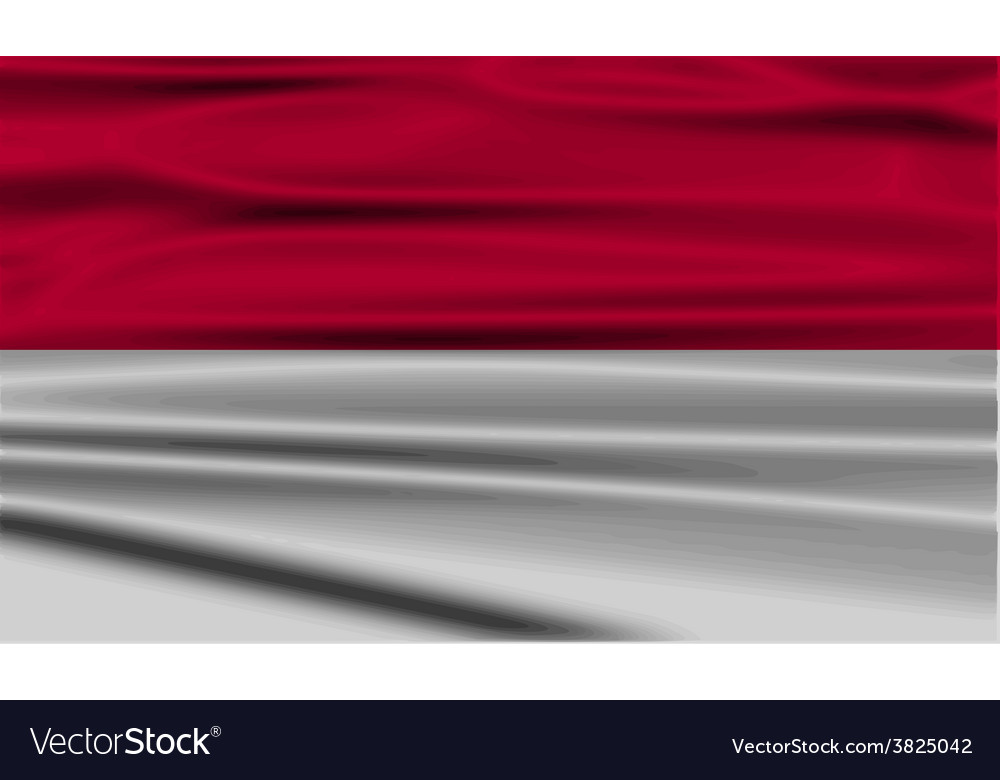 Flag of indonesia with old texture vector | Price: 1 Credit (USD $1)