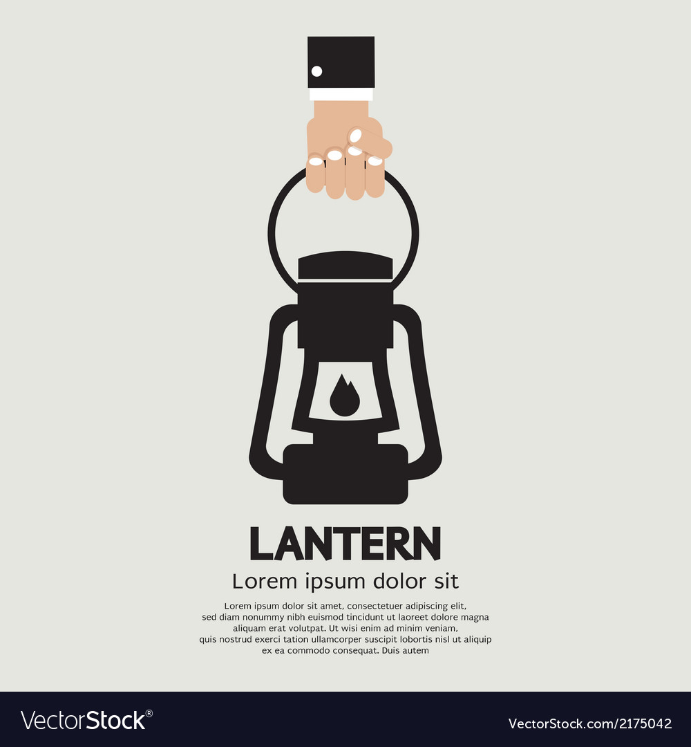 Hand holding a lantern vector | Price: 1 Credit (USD $1)