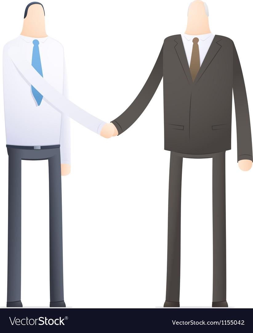 Handshake employee and boss vector | Price: 1 Credit (USD $1)