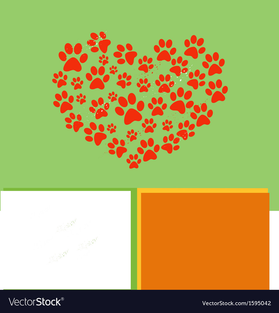 Heart paw vector | Price: 1 Credit (USD $1)