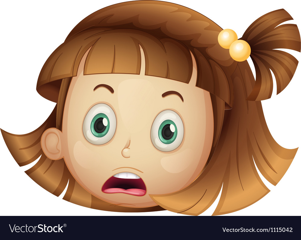 Shocked girl vector | Price: 1 Credit (USD $1)