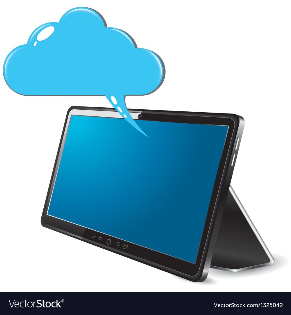 Tablet cloud computing vector | Price: 1 Credit (USD $1)