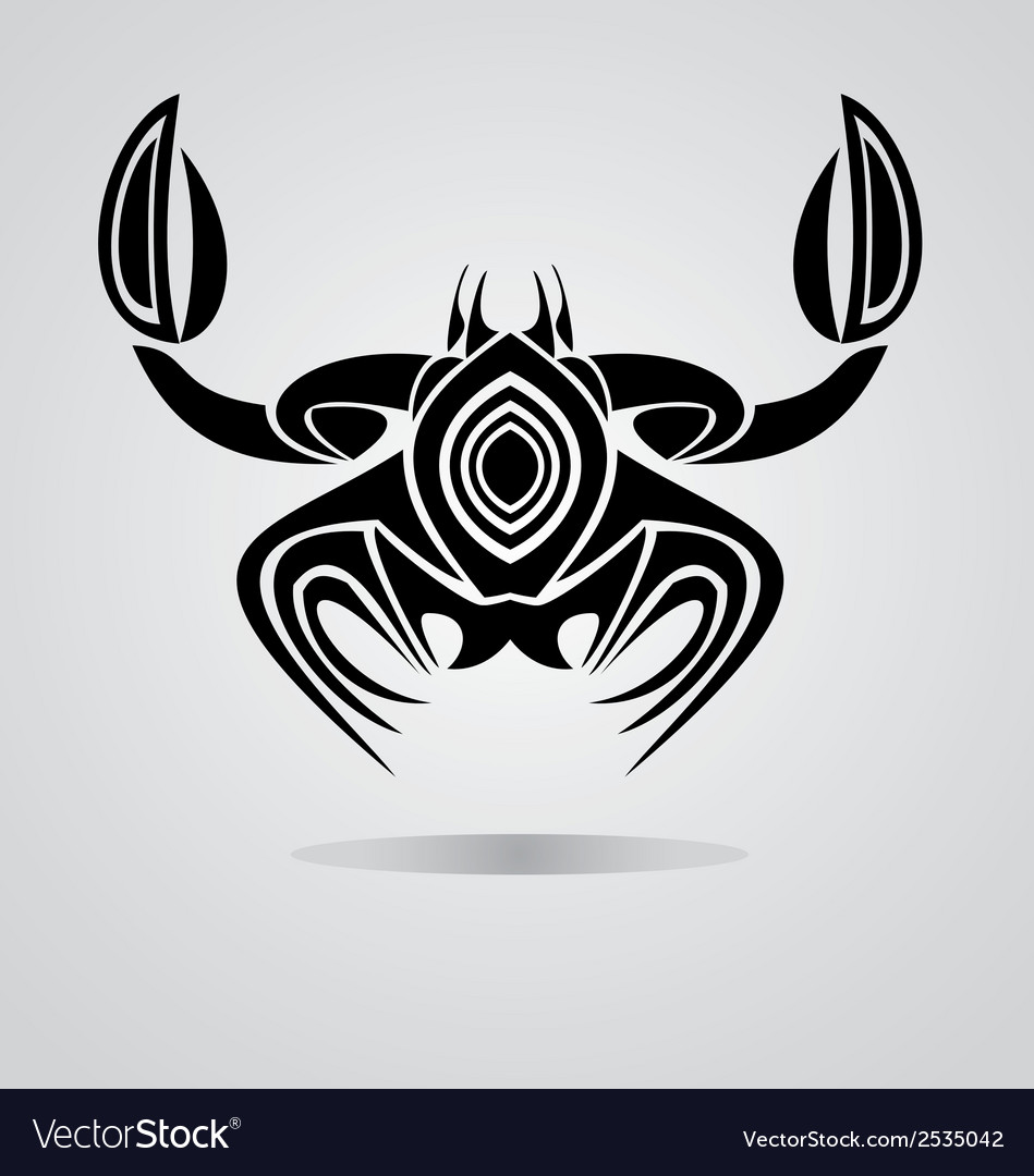 Tribal crab vector | Price: 1 Credit (USD $1)