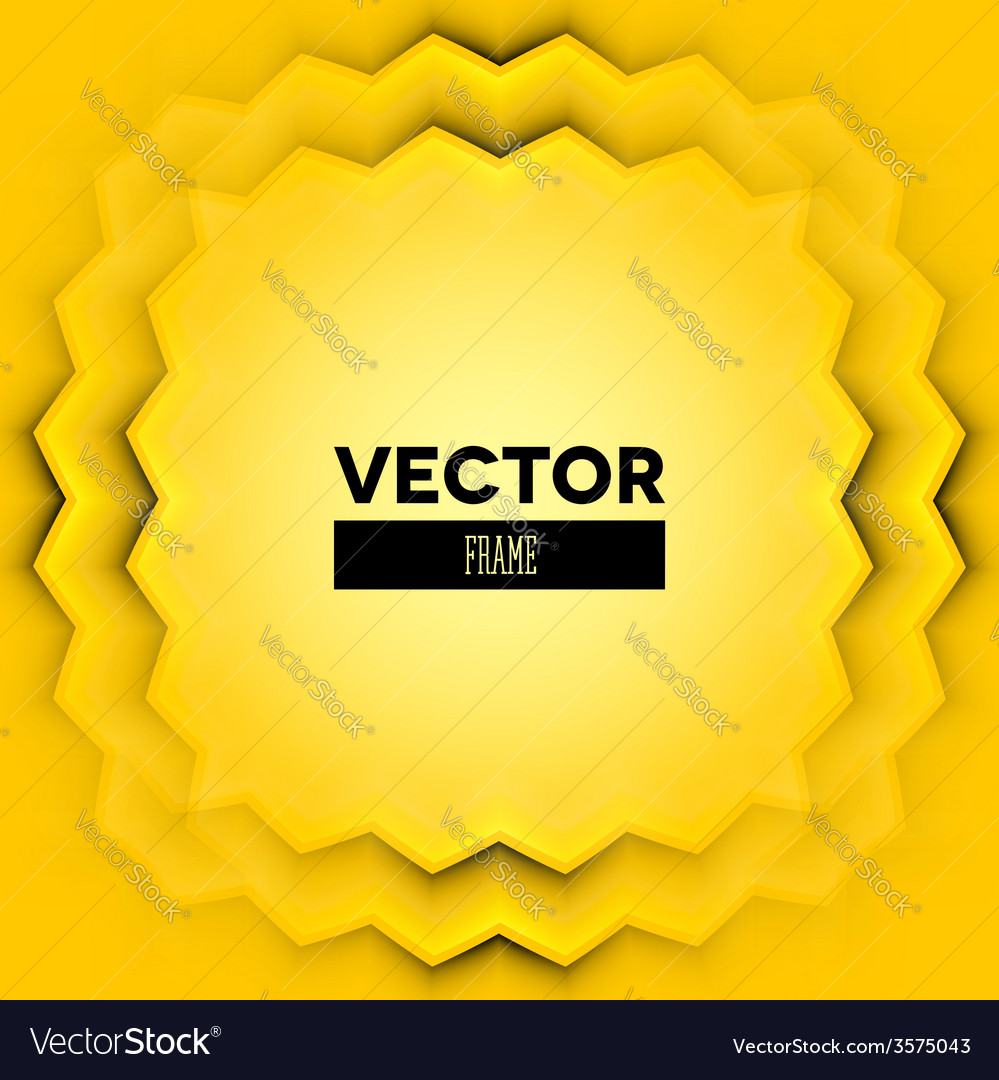 Abstract frame with yellow layers vector | Price: 1 Credit (USD $1)