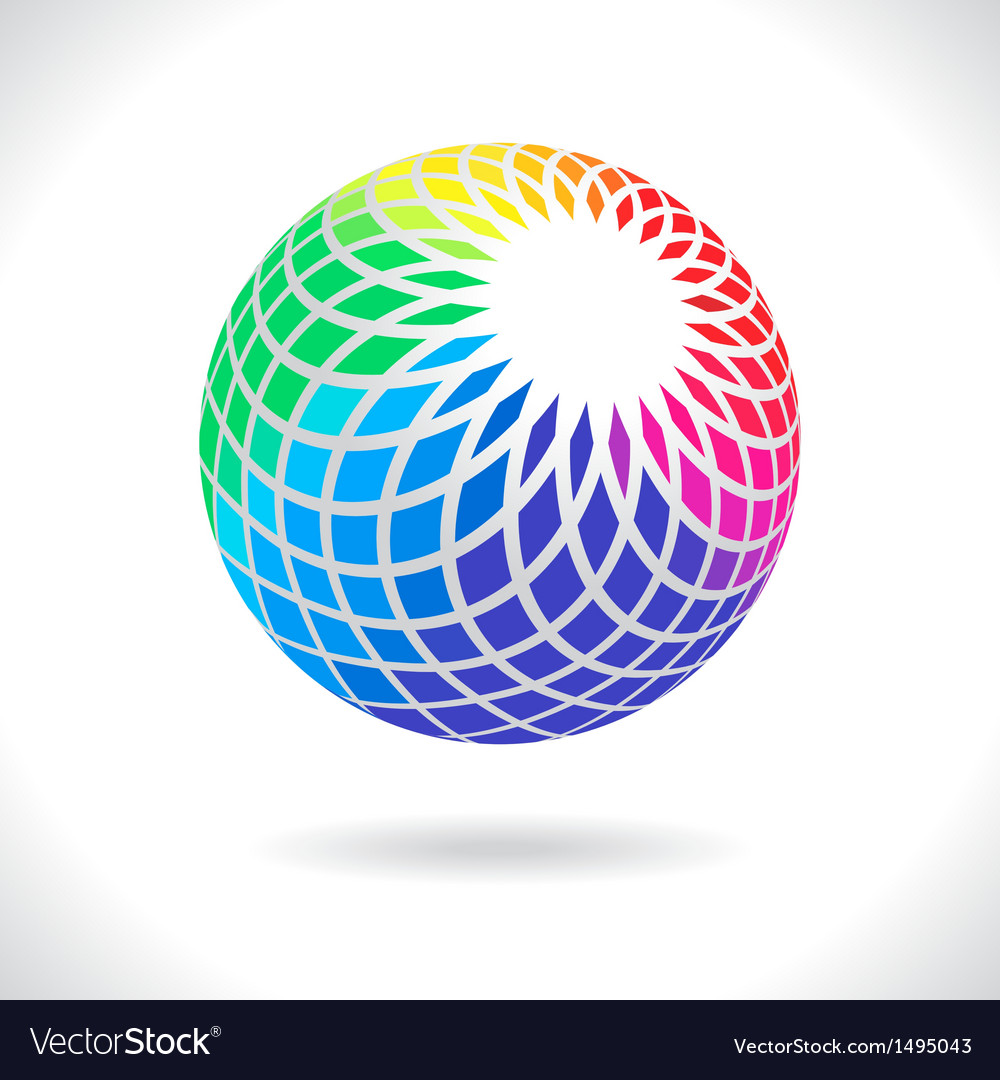 Abstract sphere vector | Price: 1 Credit (USD $1)