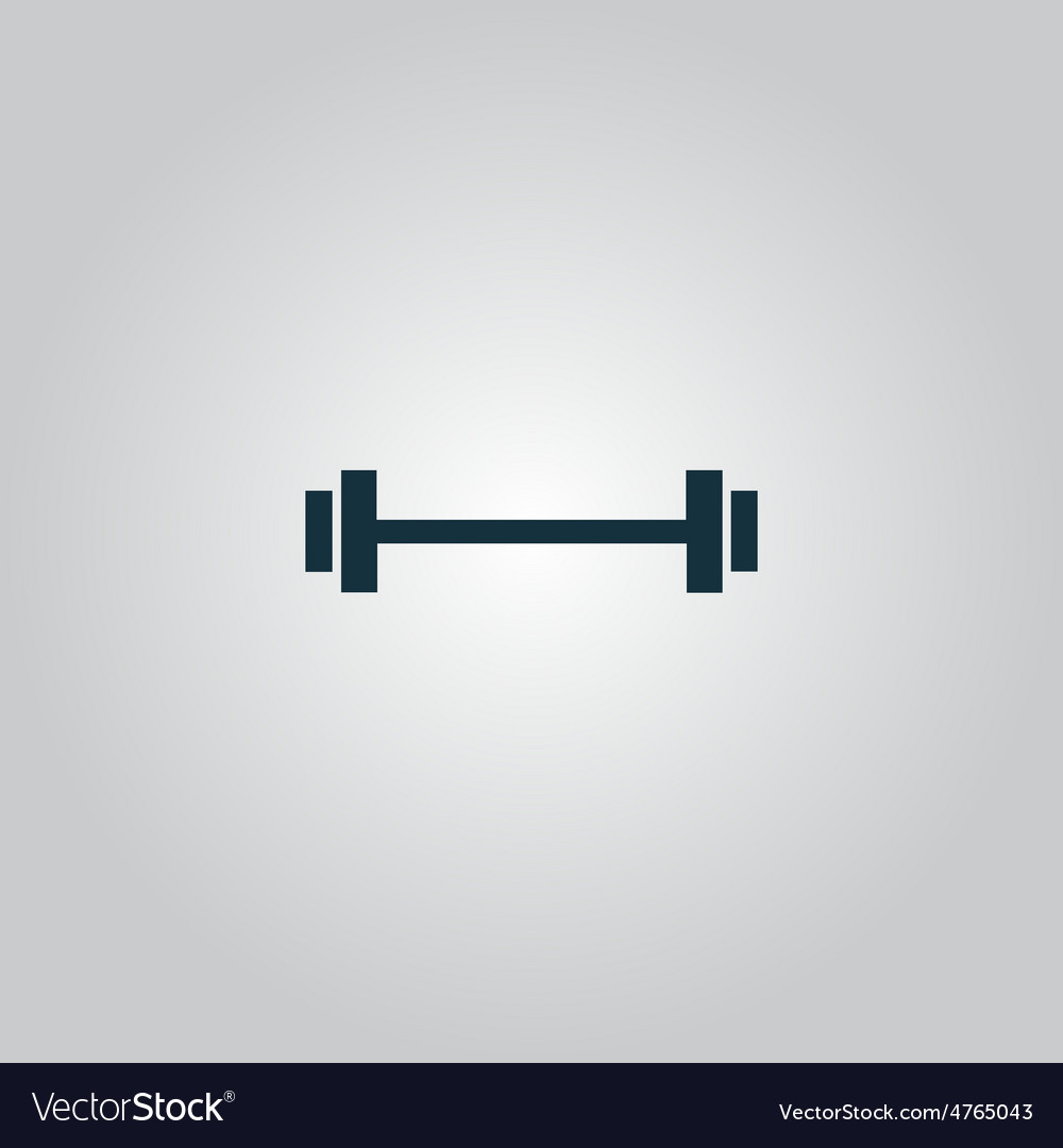 Barbell - single icon vector | Price: 1 Credit (USD $1)