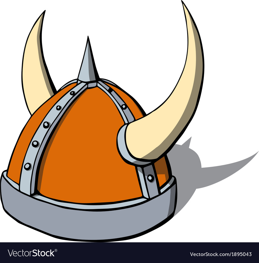 Cartoon viking helmet with horns vector | Price: 1 Credit (USD $1)