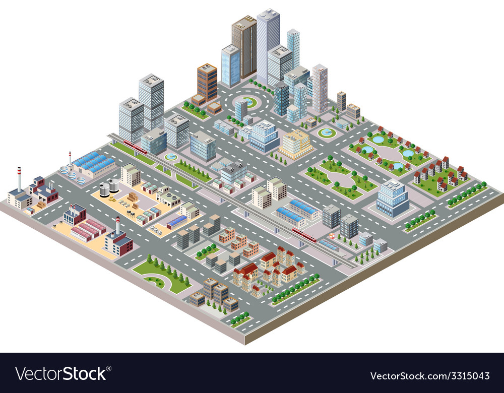 City center vector