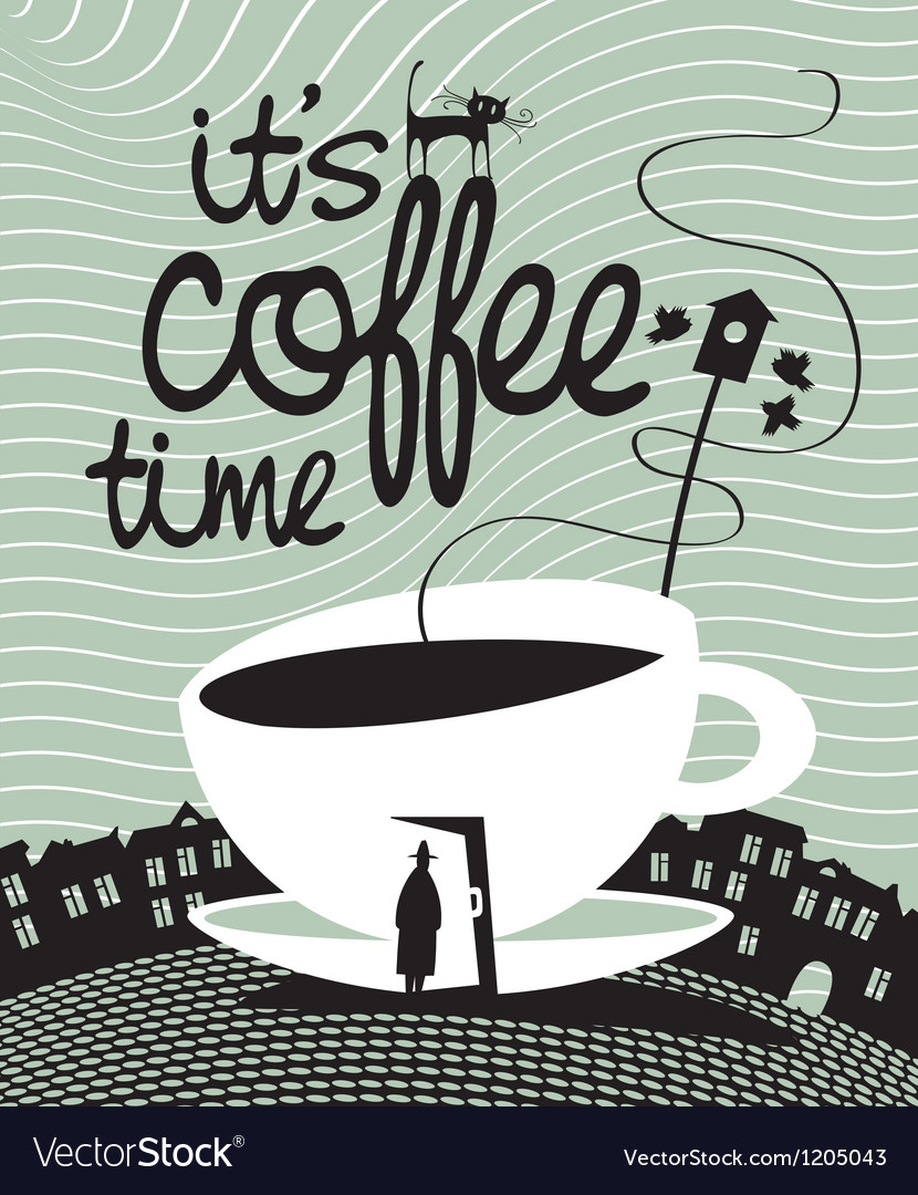 Coffee time vector | Price: 3 Credit (USD $3)